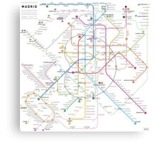 Madrid metro map Canvas Print