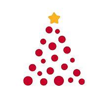 Christmas tree ornament balls Photographic Print