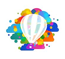 Balloon in colors Photographic Print