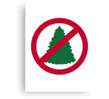 No christmas fir tree Canvas Print