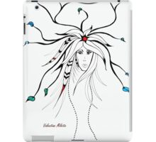 Earth Woman 4 - drawing by Valentina Miletic iPad Case/Skin