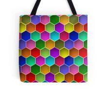 Multi-colored Hexagon Pattern Tote Bag