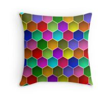 Multi-colored Hexagon Pattern Throw Pillow