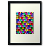 Multi-colored Hexagon Pattern Framed Print