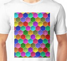 Multi-colored Hexagon Pattern Unisex T-Shirt