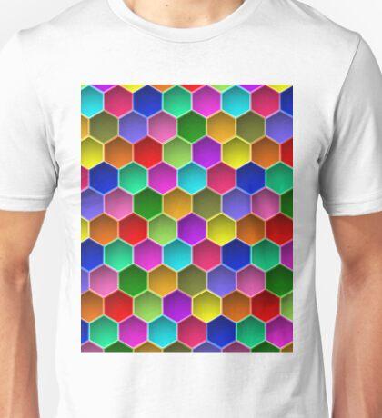 Multi-colored Hexagon Pattern Unisex T-Shirt