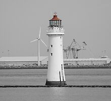 The Perch Rock Lighthouse - New Brighton by PlaneMad1997