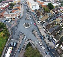 Aerial Roundabout Daytime by Johan Dahlberg