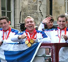 Chris Hoy, Ross Edgar and David Florence by Samantha Mooney
