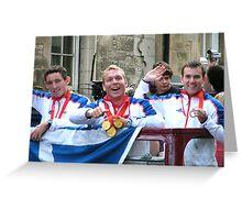 Chris Hoy, Ross Edgar and David Florence Greeting Card