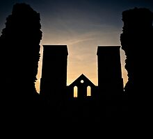 Twin Towers of Reculver by JayteaUK