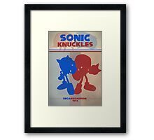Megadrive - Sonic and Knuckles Framed Print