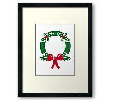Wreath christmas Framed Print