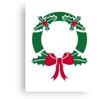 Wreath christmas Canvas Print