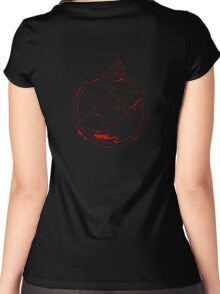 Roy Mustang - Blood Transmutation Circle Women's Fitted Scoop T-Shirt