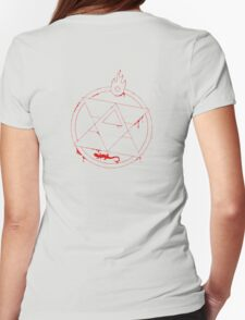 Roy Mustang - Blood Transmutation Circle Womens Fitted T-Shirt
