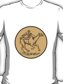 Jockey Camel Racing Circle Etching T-Shirt