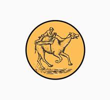 Jockey Camel Racing Circle Etching Unisex T-Shirt