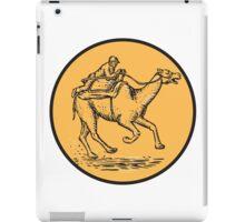 Jockey Camel Racing Circle Etching iPad Case/Skin