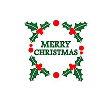 Merry christmas xmas Photographic Print