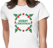 Merry christmas xmas Womens Fitted T-Shirt