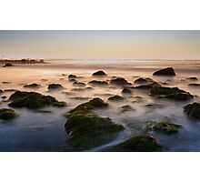 Waves on the rocky shores of La Jolla, California Photographic Print