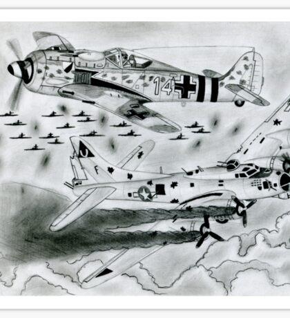 FW 190A8 vs B-17G Sticker