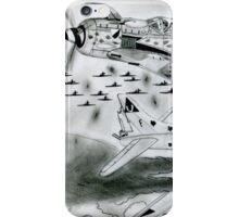FW 190A8 vs B-17G iPhone Case/Skin