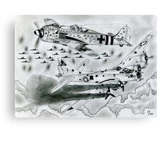 FW 190A8 vs B-17G Canvas Print