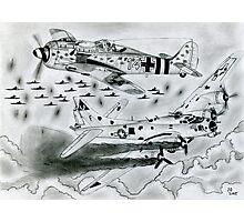 FW 190A8 vs B-17G Photographic Print