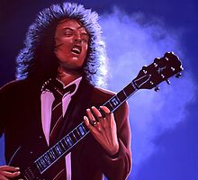 Angus Young of AC / DC painting by PaulMeijering