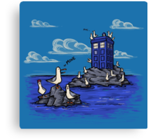 The Seagulls have the Phonebox Canvas Print