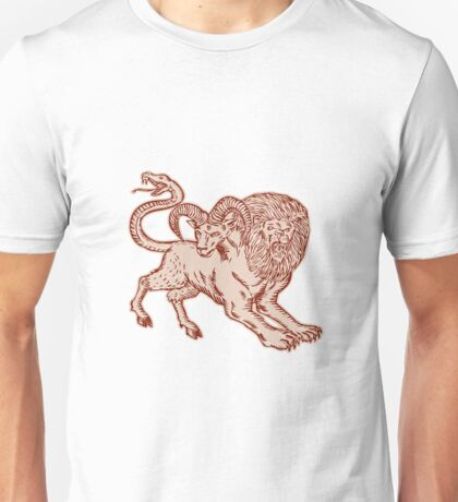 Chimera Pouncing Unisex T-Shirt