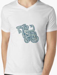 Hercules Fighting Hydra Club Mens V-Neck T-Shirt