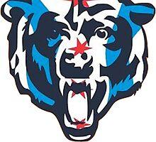 Chicago Flag Bears Logo by christyefox