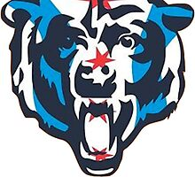Chicago Flag Bears Logo by Christy Fox