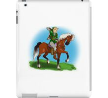Link and Epona Legend of Zelda Ocarina of Time iPad Case/Skin