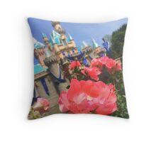 Disneyland's Sleeping Beauty Castle #8 Throw Pillow