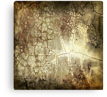 Brown Crackle Canvas Print