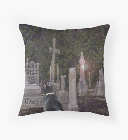 Pet Cemetery Throw Pillow