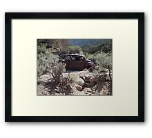 Old Rusty Antique Car ~ Digital Art Framed Print
