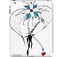 Earth Woman 8 - drawing by Valentina Miletic iPad Case/Skin