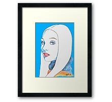 Maddie Ziegler Pencil Portrait Framed Print