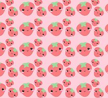 イチゴ // cute strawberry pattern!! by AlexandraLester