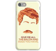 Ron Swanson (Nick Offerman) - A Breakfast Hero iPhone Case/Skin