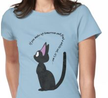 Jiji The Cat (No BG) Womens Fitted T-Shirt