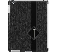 1920s Jazz Deco Swing Monogram black & silver letter T iPad Case/Skin