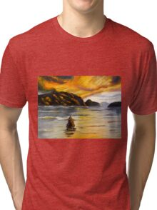 Lake Wahatipu Queenstown NZ Tri-blend T-Shirt