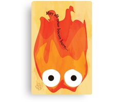 Calcifer's Curse Variant Canvas Print