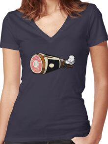 Ham Solo Women's Fitted V-Neck T-Shirt
